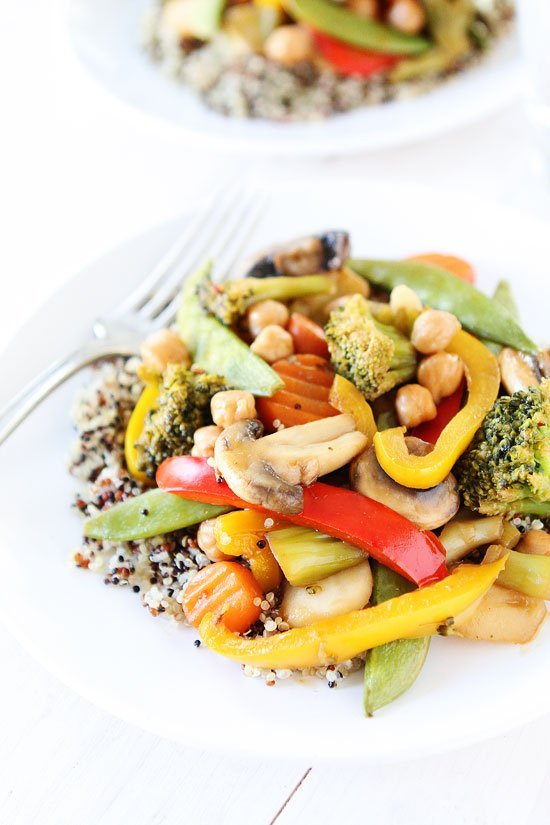 Easy Chickpea Vegetable Stir Fry Recipe