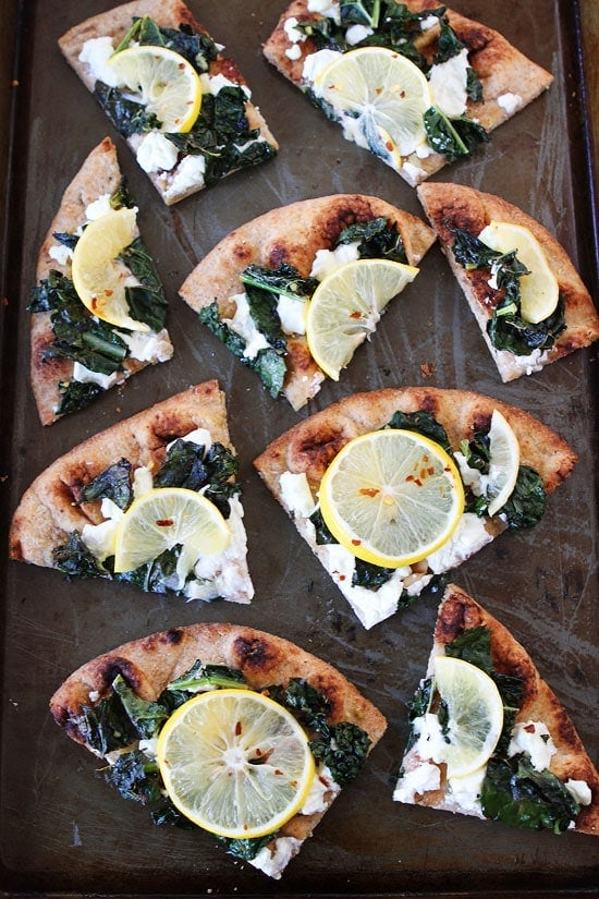 Meyer Lemon, Kale, and Goat Cheese Flatbread Recipe
