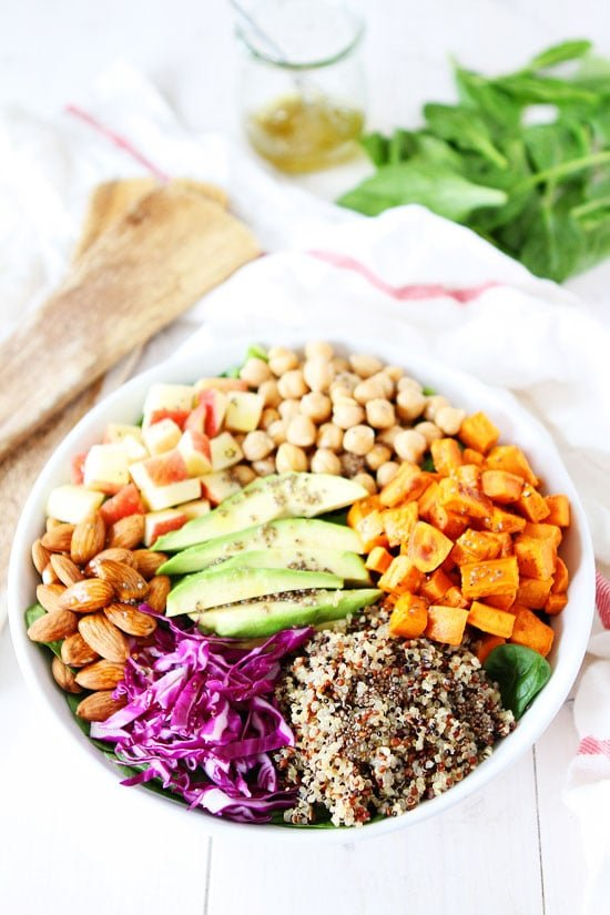 Power Salad with Lemon Chia Seed Dressing Recipe
