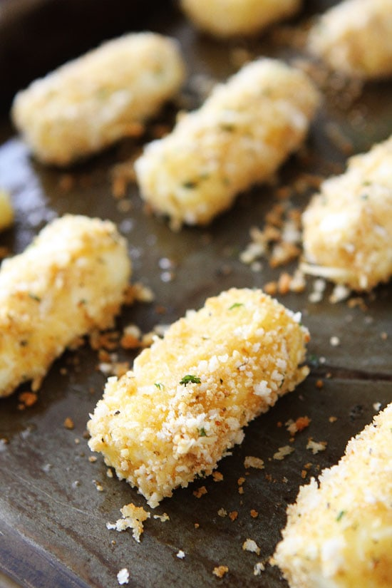 Baked Mozzarella Sticks Recipe