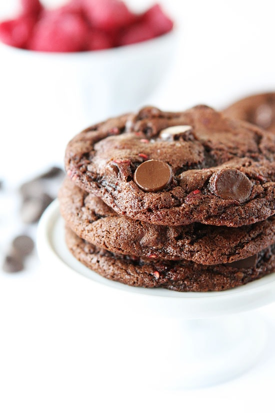 Dark Chocolate Raspberry Cookies Recipe