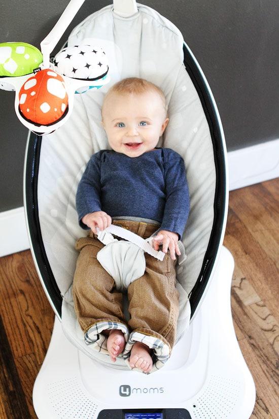 mamaRoo infant seat giveaway on twopeasandtheirpod.com