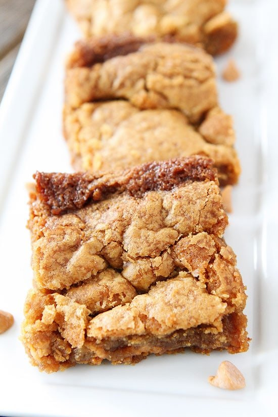 Salted Caramel Butterscotch Blondies-chewy blondies with butterscotch ...
