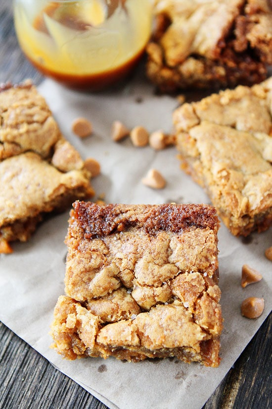 Salted Caramel Butterscotch Blondies Recipe