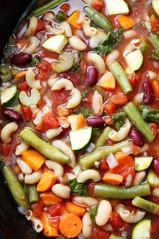 Slow Cooker Minestrone Soup Recipe On Twopeasandtheirpod Com