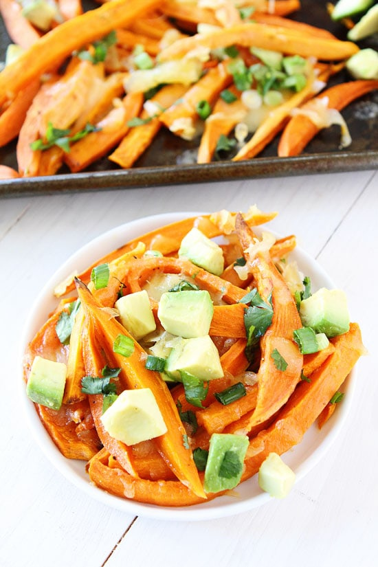 How to make cheese fries with sweet potatoes