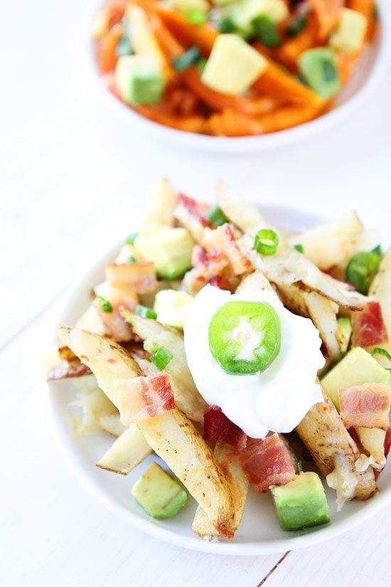 Loaded Cheese Fries with bacon, sour cream and jalepenos