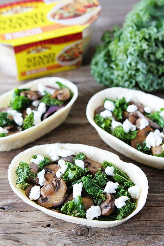 Roasted Mushroom, Kale, and Goat Cheese Tacos Recipe