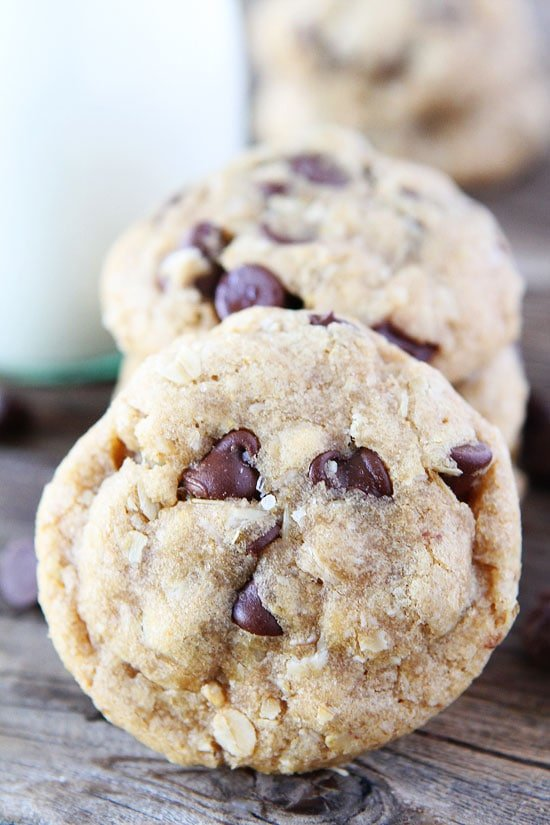 Whole Wheat Oatmeal Chocolate Chip Cookies