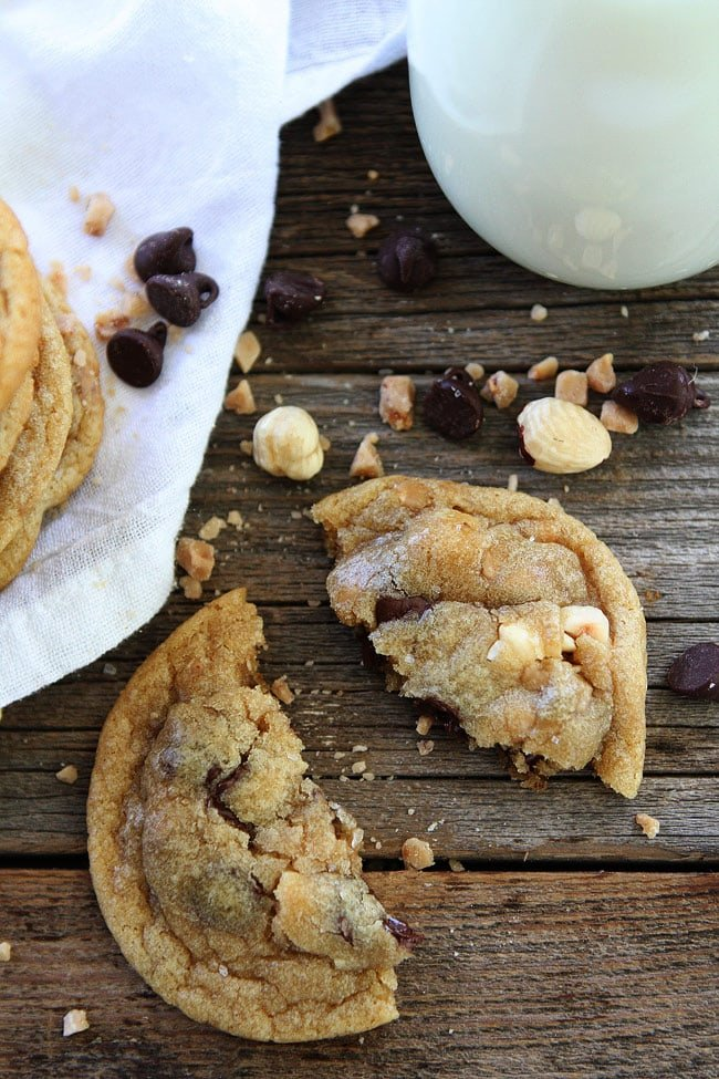 Hazelnut Toffee Chocolate Chip Cookies are the BEST chocolate chip cookies!