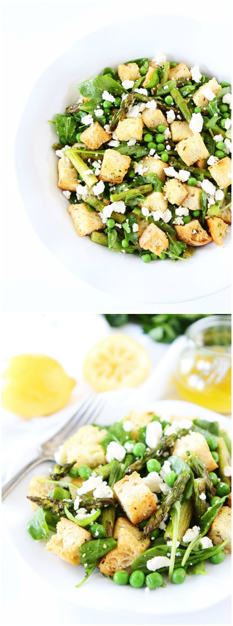 Spring Panzanella Salad Recipe on twopeasandtheirpod.com The perfect salad for spring!