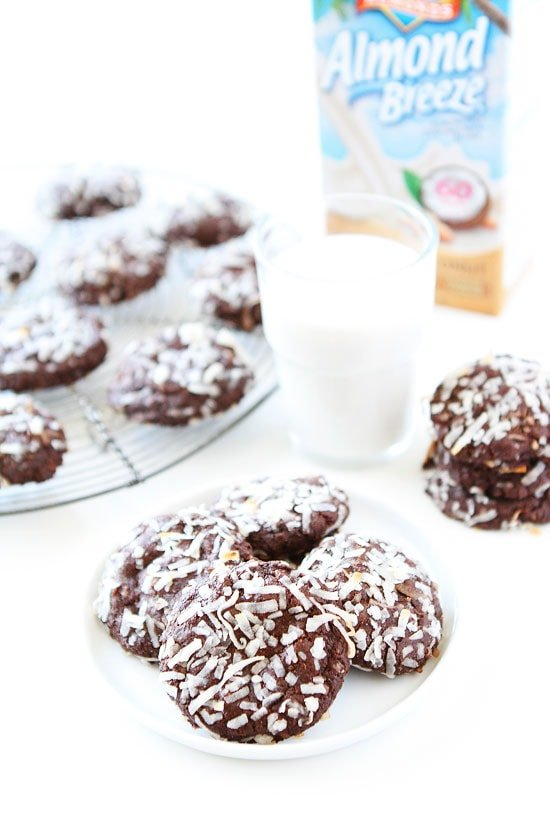 Chocolate Coconut Cookies made with Almond Breeze Coconut Milk