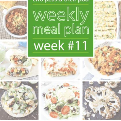 Weekly Meal Plan, Week 11 on twopeasandtheirpod.com Great dinner ideas!