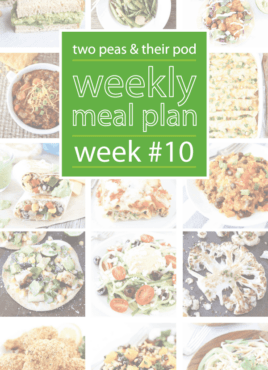 Weekly Meal Plan, Week 10 on twopeasandtheirpod.com Love these dinner ideas! I want to make them all!