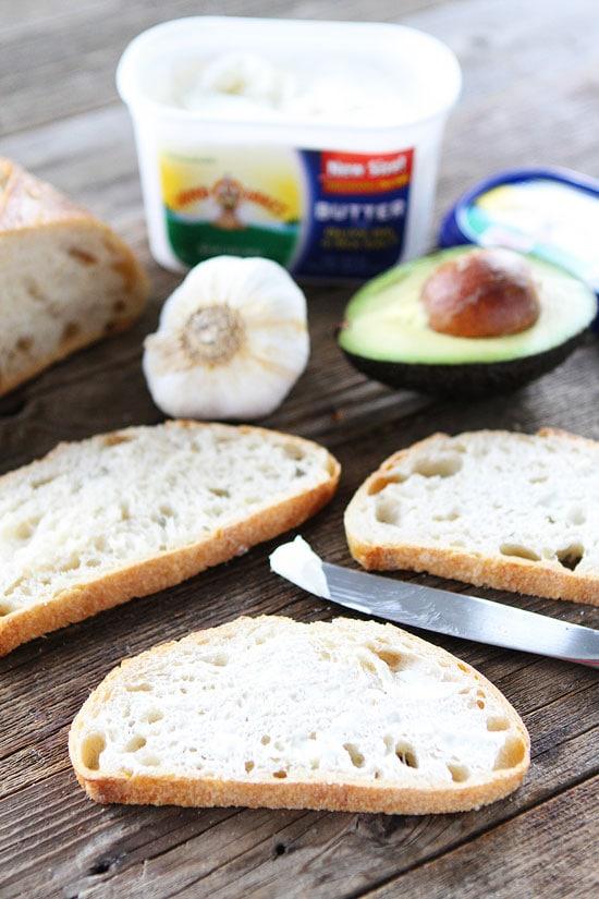 Garlic Bread Avocado Toasts Recipe
