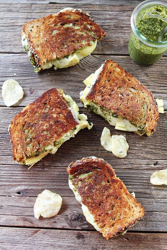 Pesto, Artichoke, and Havarti Grilled Cheese Recipe