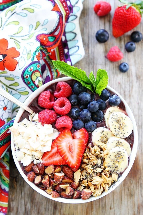 Berry Smoothie Bowl In Bowl
