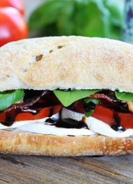 Caprese Sandwich recipe with Bacon