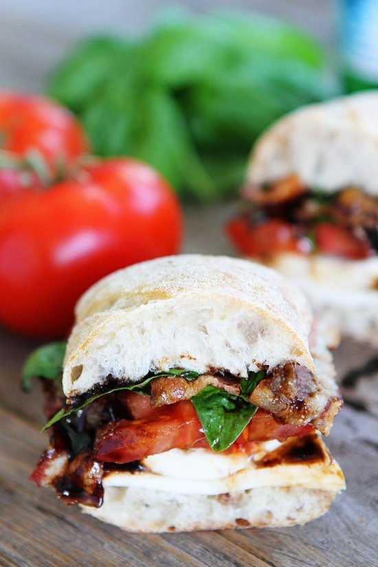The perfect Caprese Sandwich with Bacon