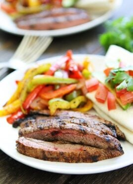 Steak Fajitas made on the grill