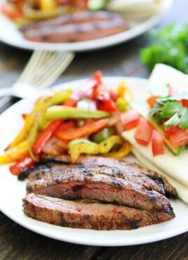 Steak Fajitas made on the grill