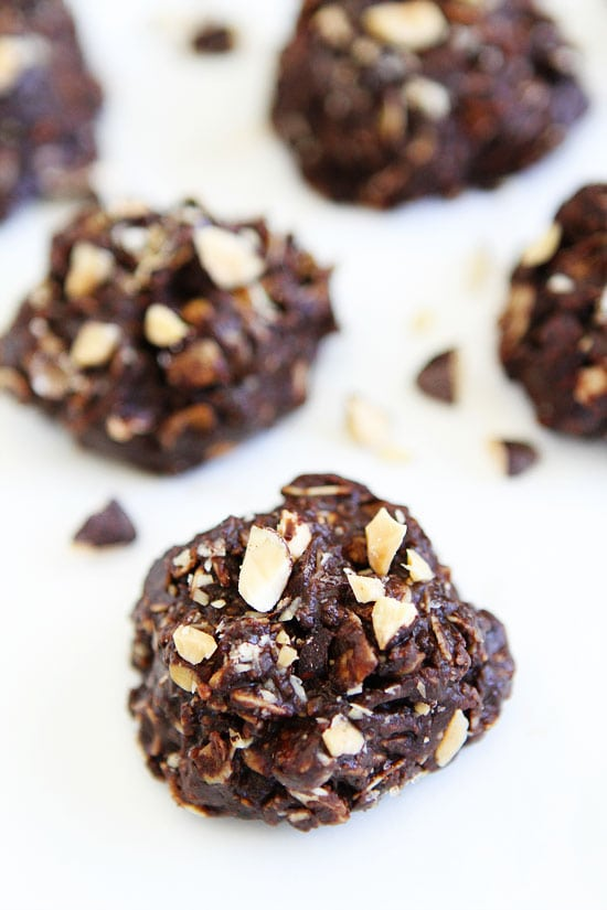 No-Bake Dark Chocolate Almond Cookie Recipe