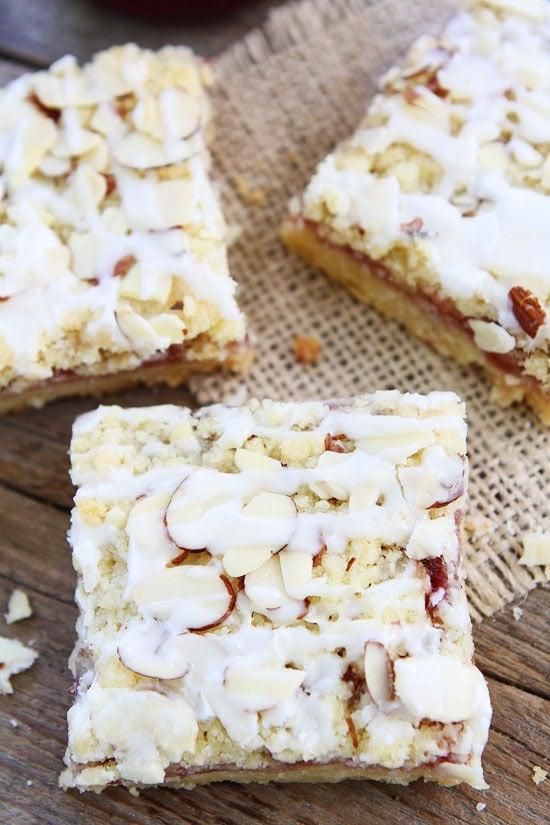 Raspberry Almond Shortbread Bars Recipe