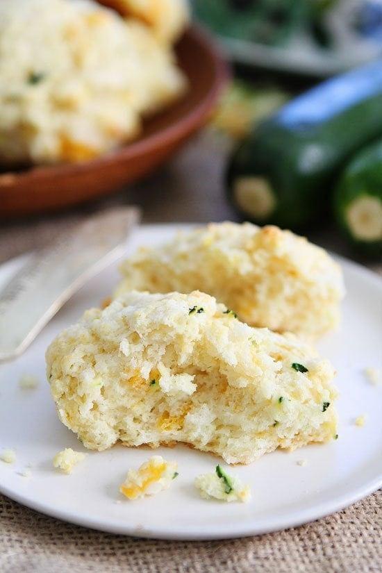 Three Cheese Zucchini Drop Biscuits Recipe