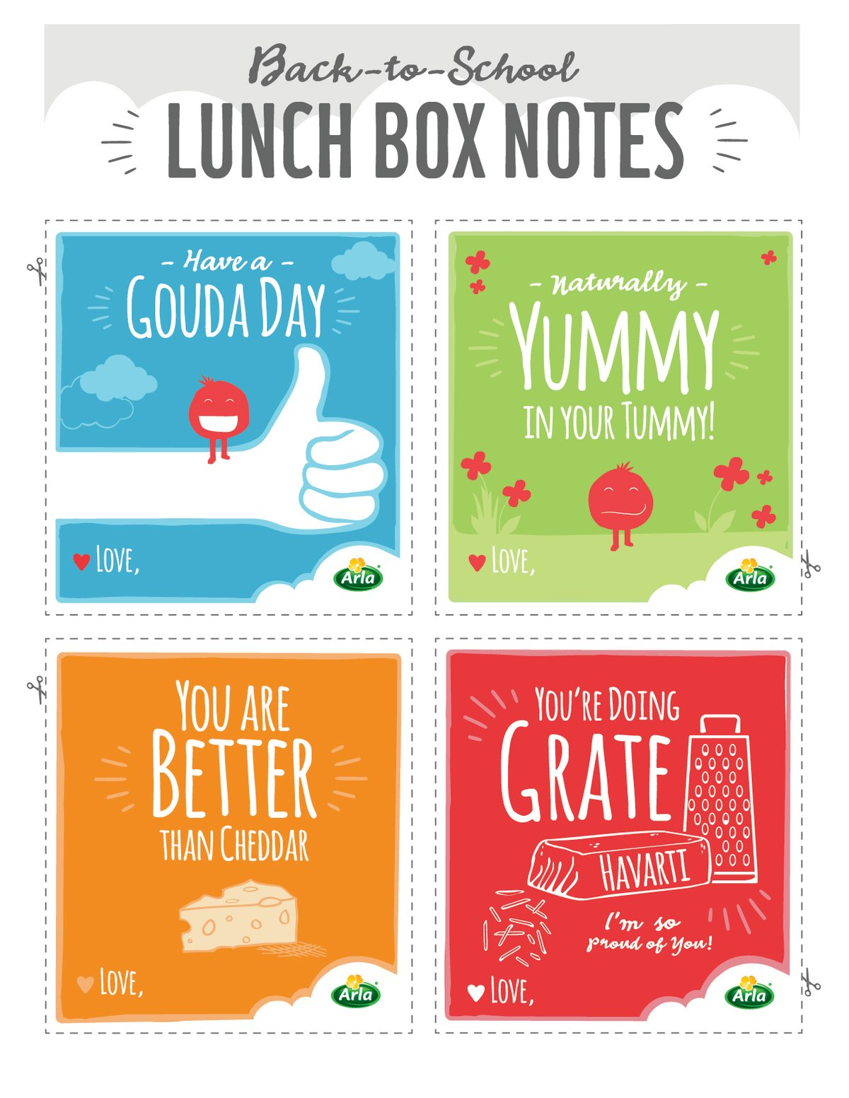 Free Printable Lunchbox Notes on twopeasandtheirpod.com