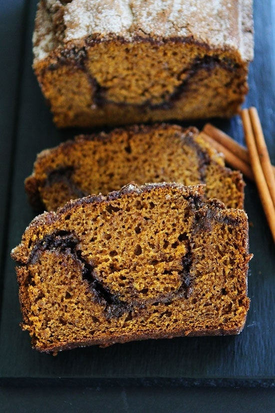 Pumpkin Cinnamon Swirl Bread Recipe