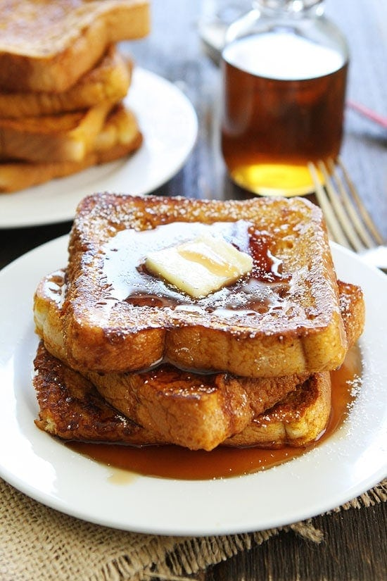 Pumpkin Recipes-you will love this easy Pumpkin French Toast!