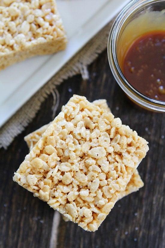 Salted Caramel Rice Krispies Treats Recipe