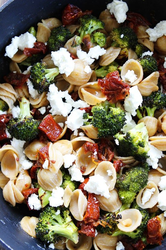 Pasta with Roasted Broccoli and Sun-Dried Tomatoes Recipe