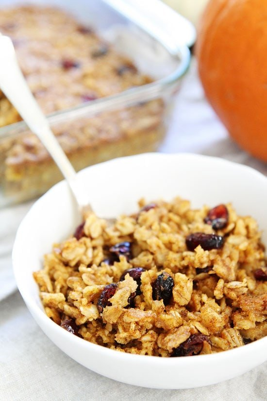 Baked Oatmeal with Pumpkin Recipe