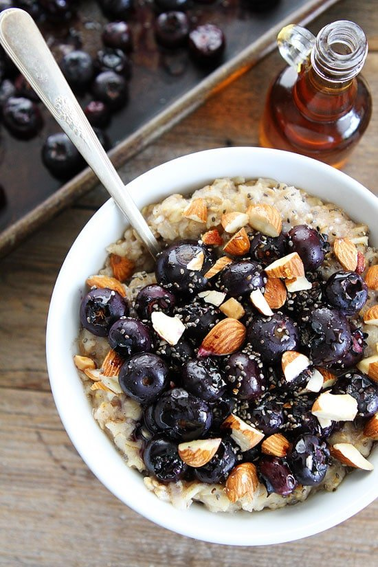 Maple Roasted Blueberry Almond Oatmeal Recipe