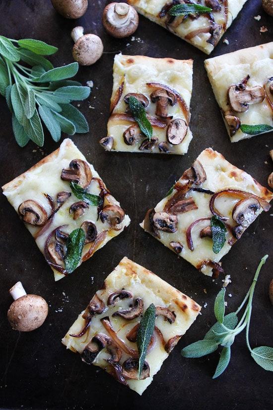 Mushroom Fontina Flatbread with Crispy Sage Recipe