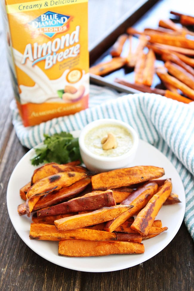 Sweet Potato Fries with Spicy Cashew Dipping Sauce Recipe