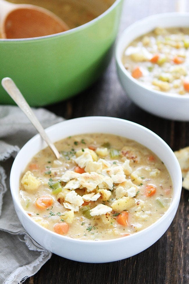 Creamy Roasted Cauliflower Chowder Recipe