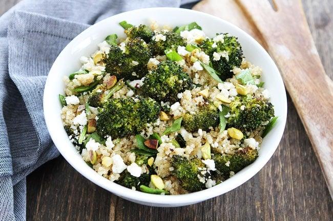 Healthy Roasted Broccoli Quinoa Salad Recipe
