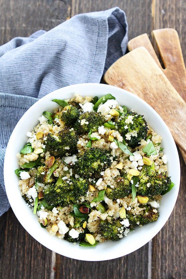 Easy Roasted Broccoli Quinoa Salad
