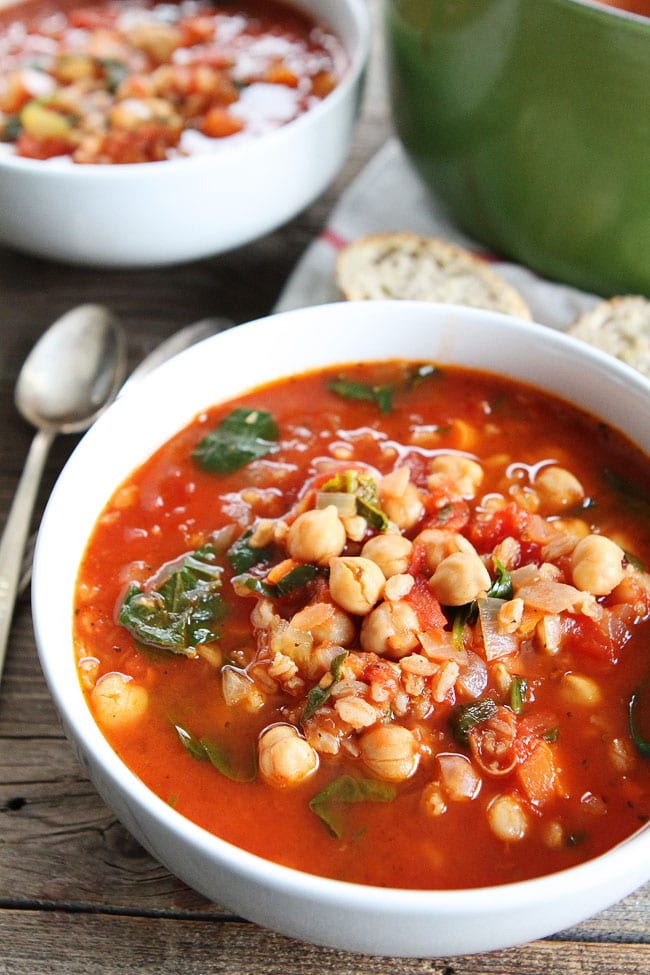 Chickpea Farro Soup Recipe