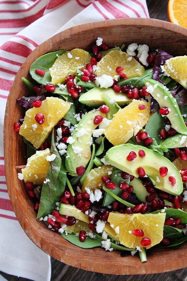 Pomegranate, Orange, and Avocado Salad Recipe