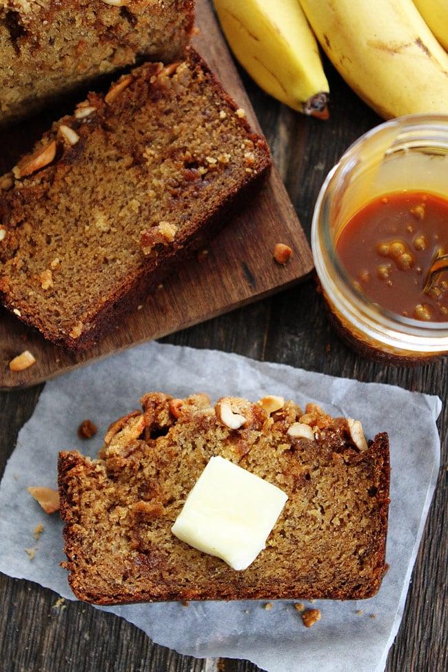 Salted Caramel Cashew Banana Bread Recipe