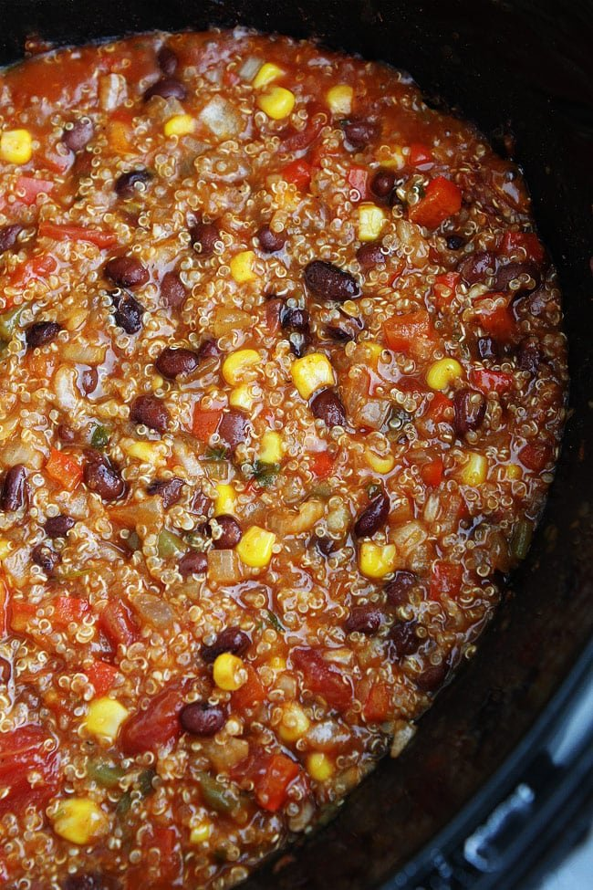Slow Cooker Enchilada Quinoa Recipe
