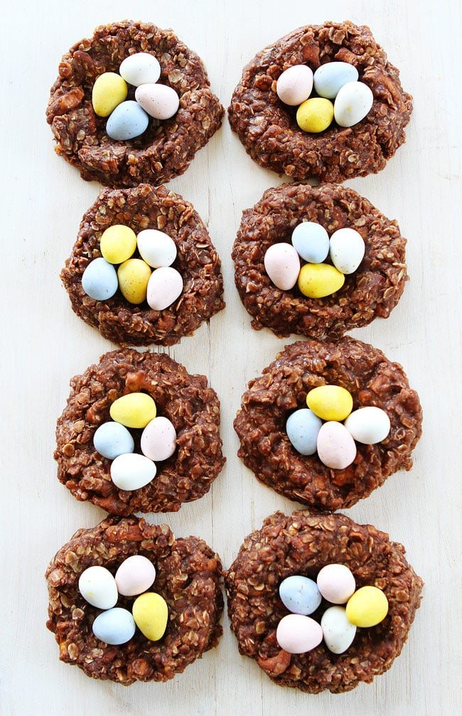 No-Bake Chocolate Peanut Butter Nest Cookies Recipe