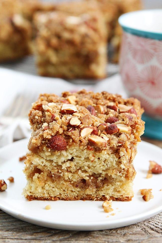 Almond Coffee Cake Recipe on twopeasandtheirpod.com