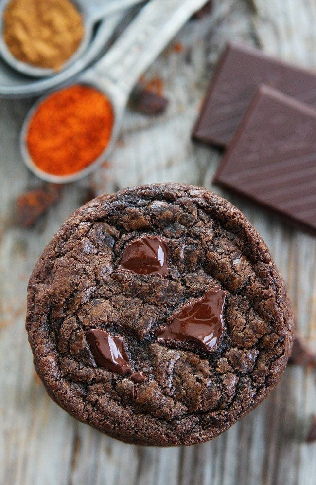 Dark Chocolate Chili Cookies