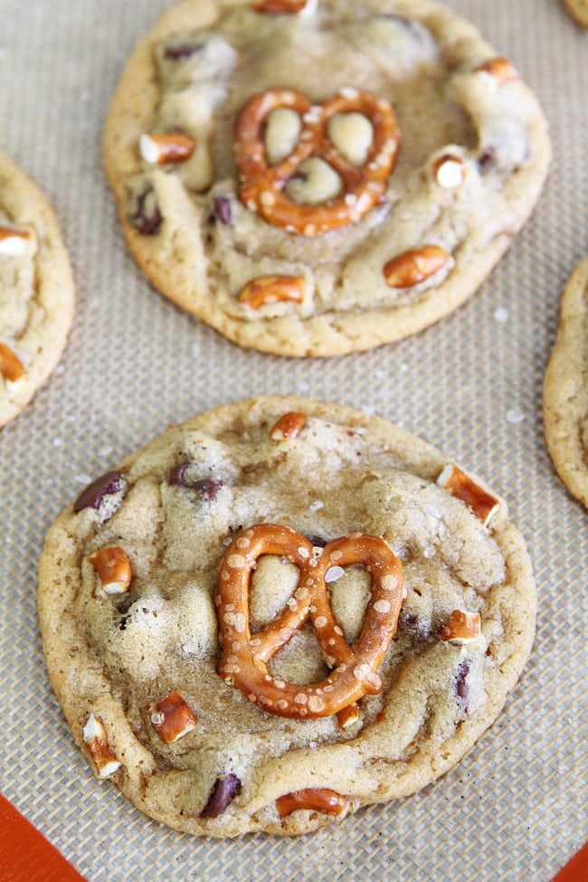 Salted Caramel Pretzel Chocolate Chip Cookie Recipe