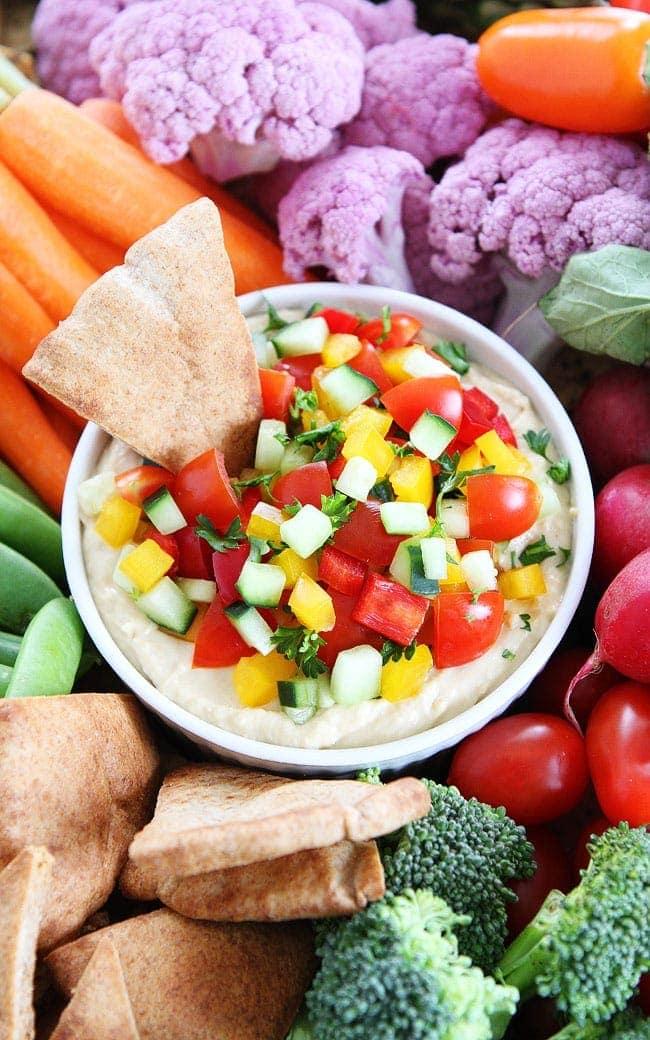 Veggie Hummus Recipe