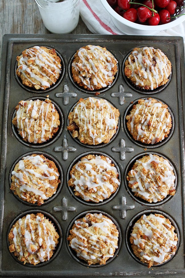 Cherry Almond Streusel Muffins Recipe